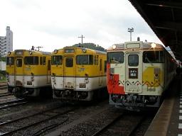 キハ47 7003 / 6828D 快速「みすゞ潮騒1号」・山陰本線 長門市(オリンパス CAMEDIA SP-320)